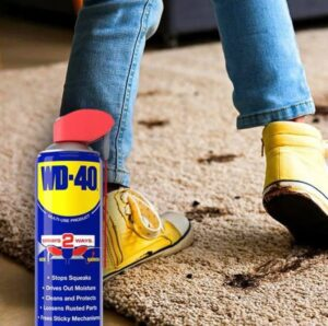wd-40 removes stains